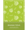 Rosh hashanah background with pomegranates happy vector