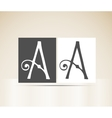 Retro alphabet letter a art deco vintage design vector