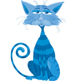 Blue cat character cartoon vector