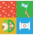 Jewish new year holiday - rosh hashahah vector