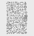 Arrow icons sketch vector