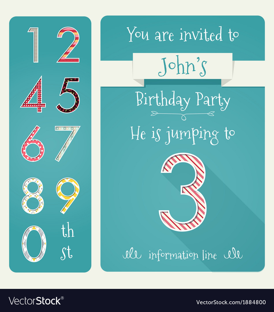 Birthday party invitation vector | Price: 1 Credit (USD $1)