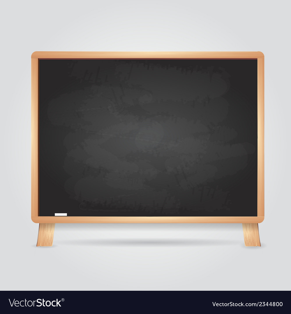 Black chalk board vector | Price: 1 Credit (USD $1)