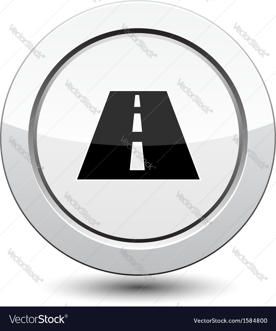 Button with road vector | Price: 1 Credit (USD $1)