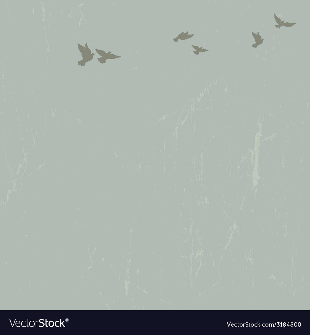 Doves in sky vector | Price: 1 Credit (USD $1)