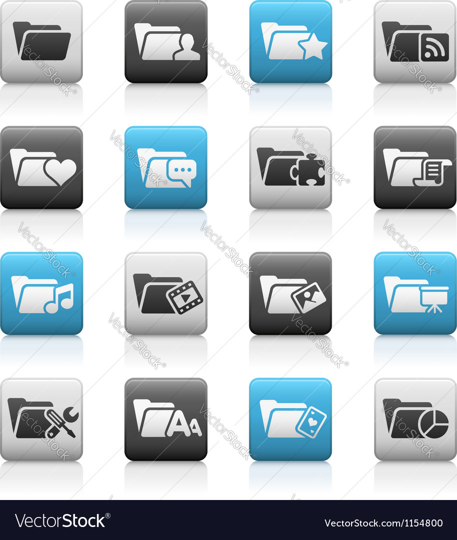 Folder icons 2 matte series vector | Price: 1 Credit (USD $1)