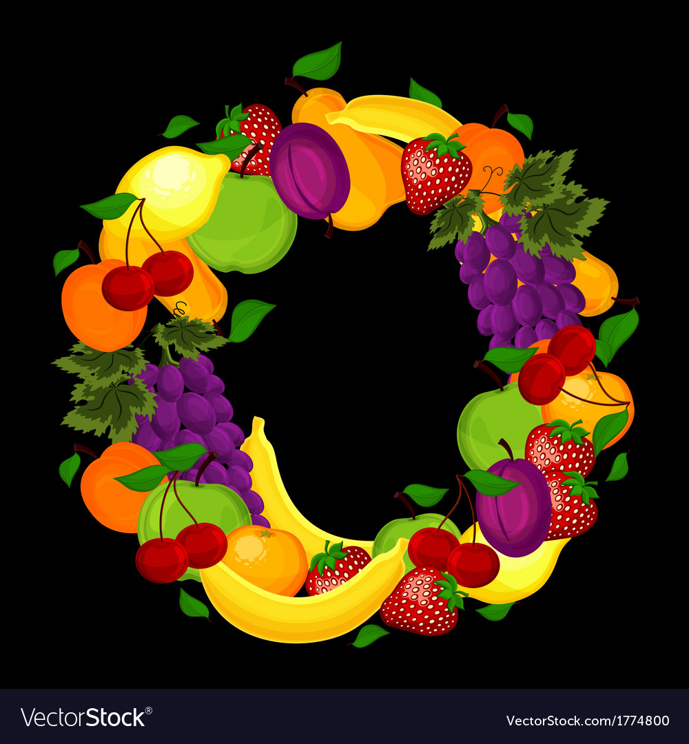 Healthy lifestyle-fruit circle vector | Price: 1 Credit (USD $1)