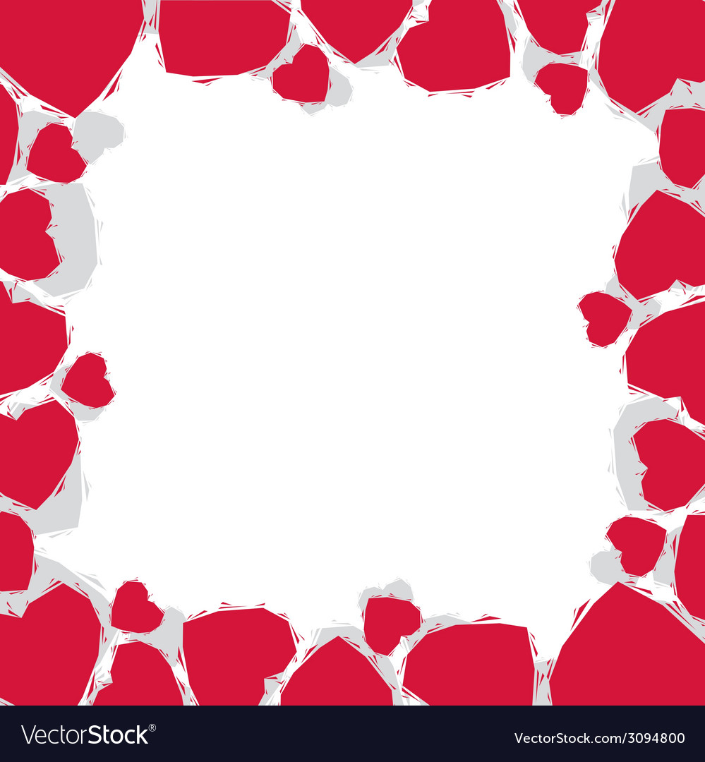 Hearts border made in contemporary geometric style vector   Price: 1 Credit (USD $1)