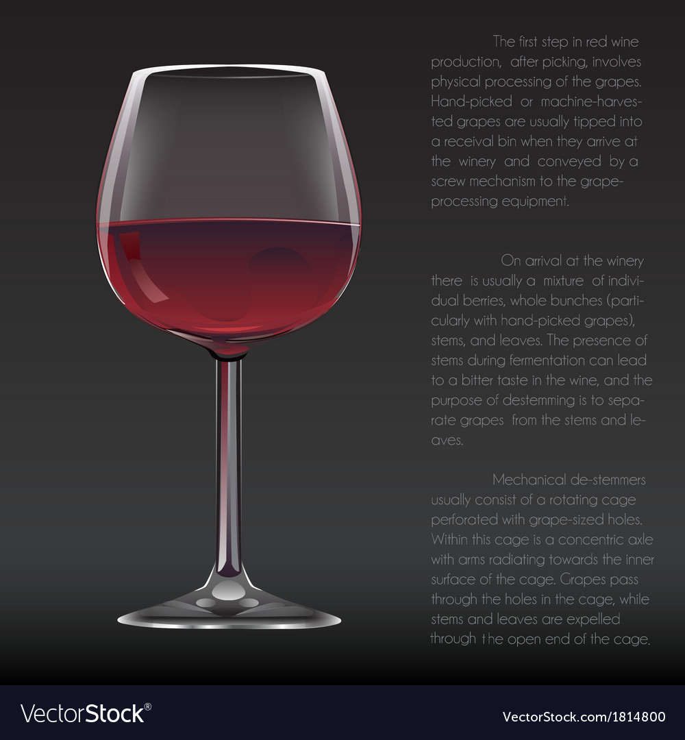 Realistic glass of red wine vector | Price: 1 Credit (USD $1)