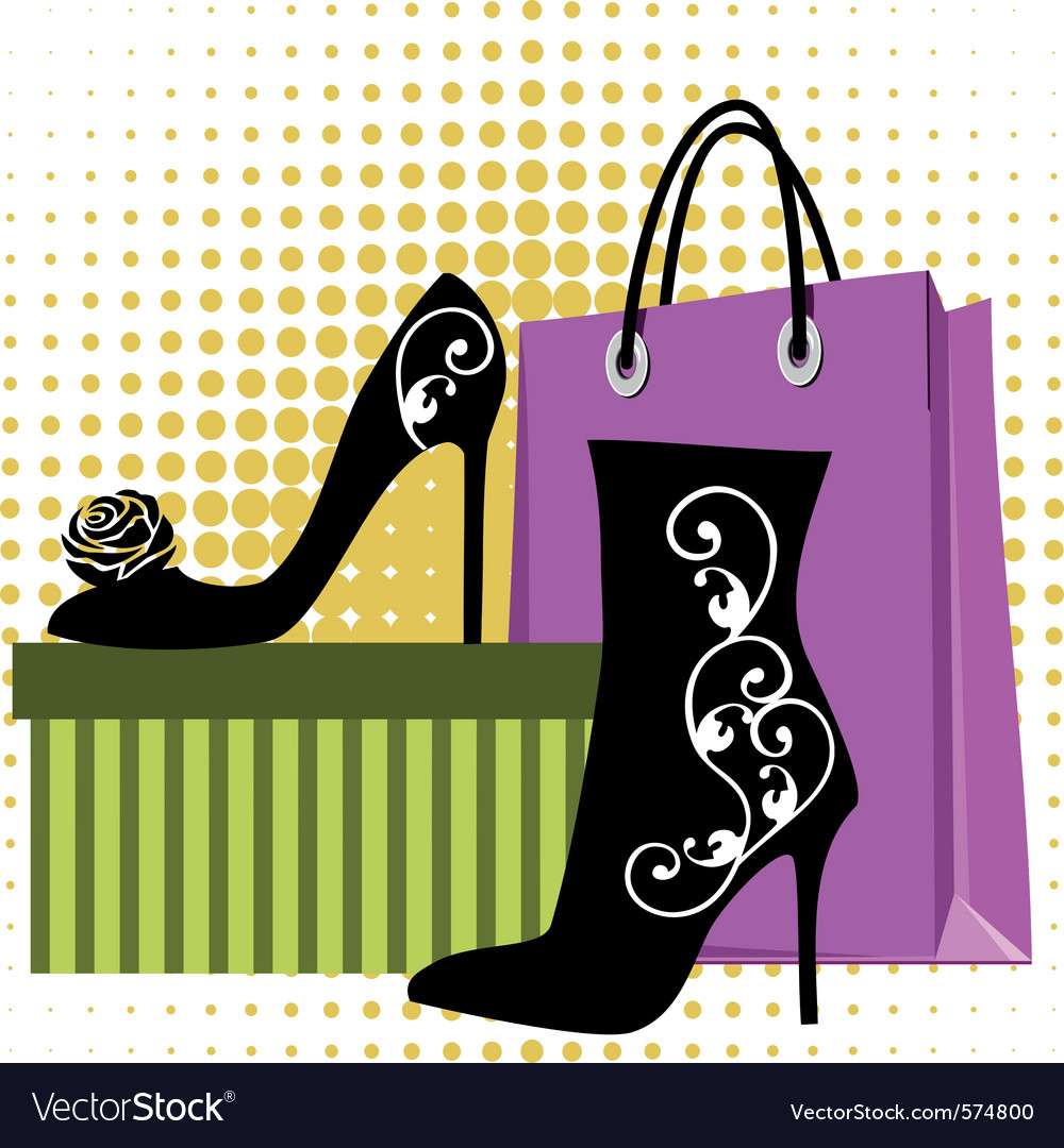 Shoes shopping vector | Price: 1 Credit (USD $1)