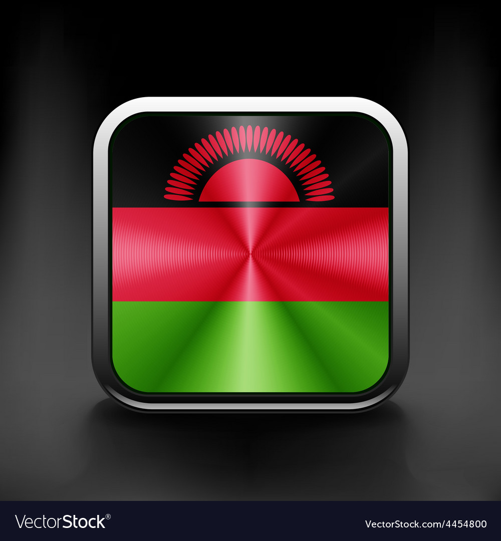Simple malawi present flag isolated vector | Price: 1 Credit (USD $1)