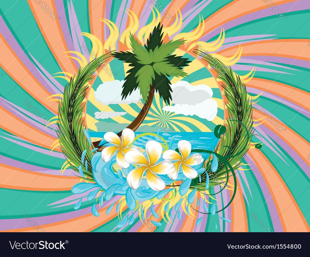 Tropic island vector | Price: 3 Credit (USD $3)