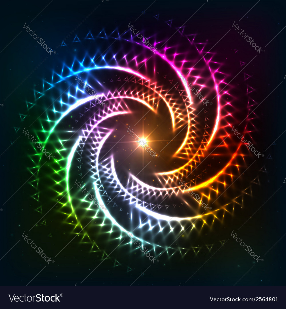 Abstract rainbow neoncosmic spiral background vector | Price: 1 Credit (USD $1)