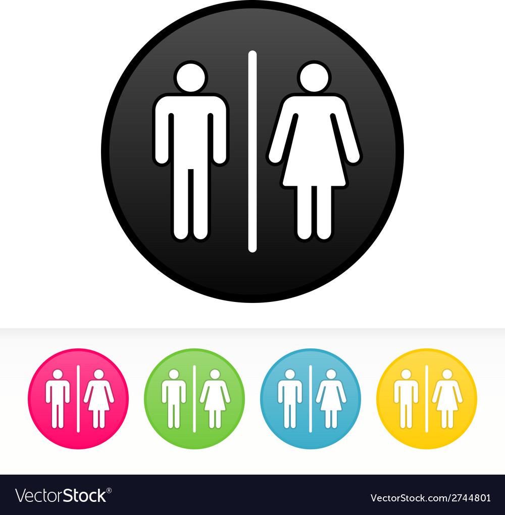 Bathroom symbol vector | Price: 1 Credit (USD $1)