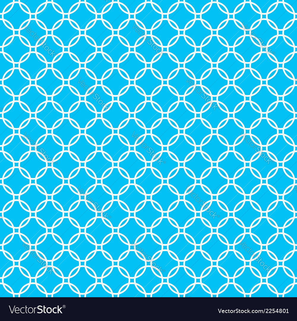 Blue background fabric with white cross circles vector | Price: 1 Credit (USD $1)