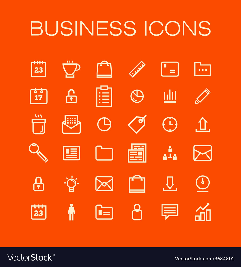 Business universal outline icons for web and vector | Price: 1 Credit (USD $1)