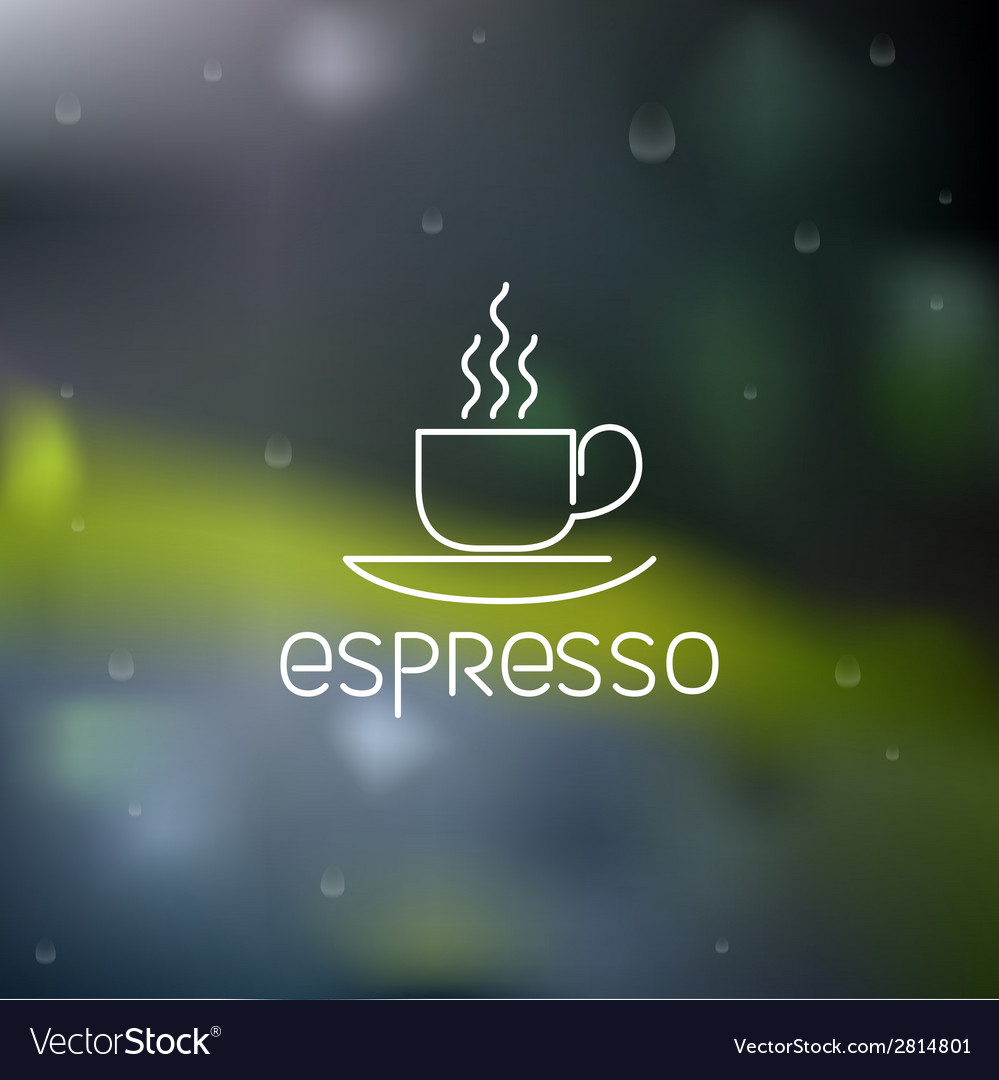 Coffee pictogram on rainy flare background vector | Price: 1 Credit (USD $1)