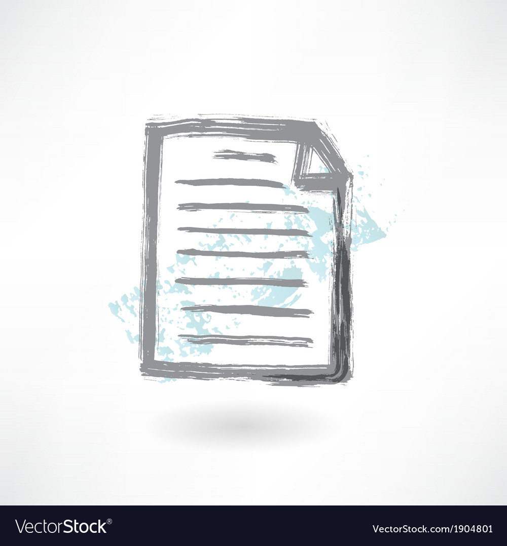 Document grunge icon vector | Price: 1 Credit (USD $1)