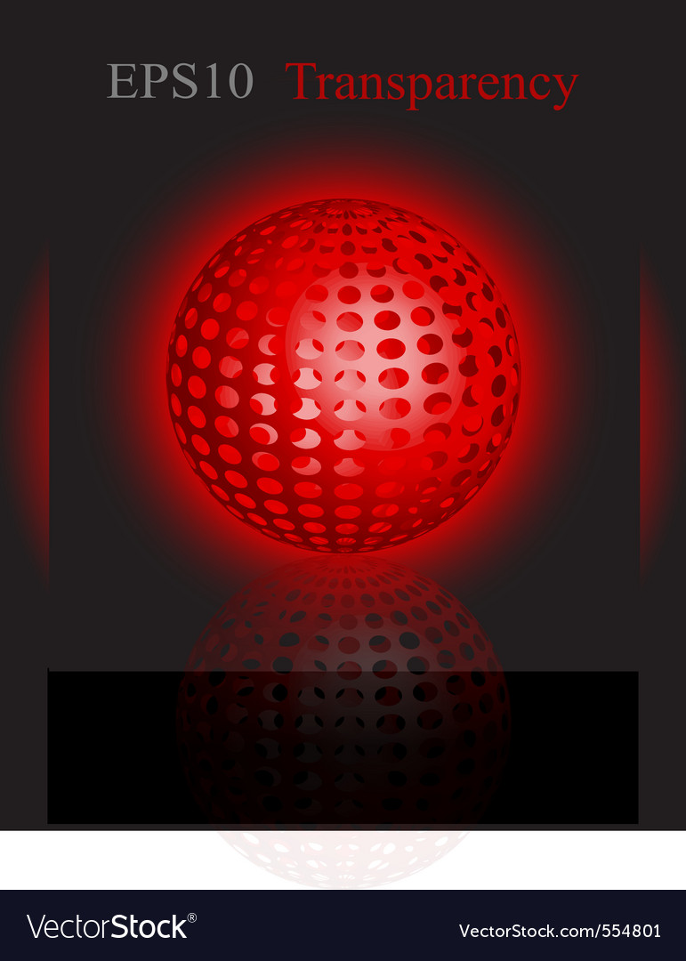Glowing disco ball vector | Price: 1 Credit (USD $1)