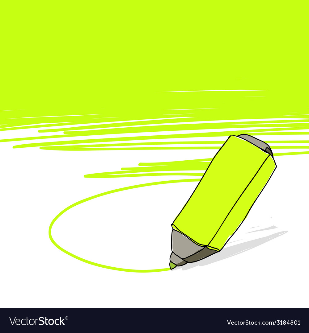 Highlighter concept vector | Price: 1 Credit (USD $1)