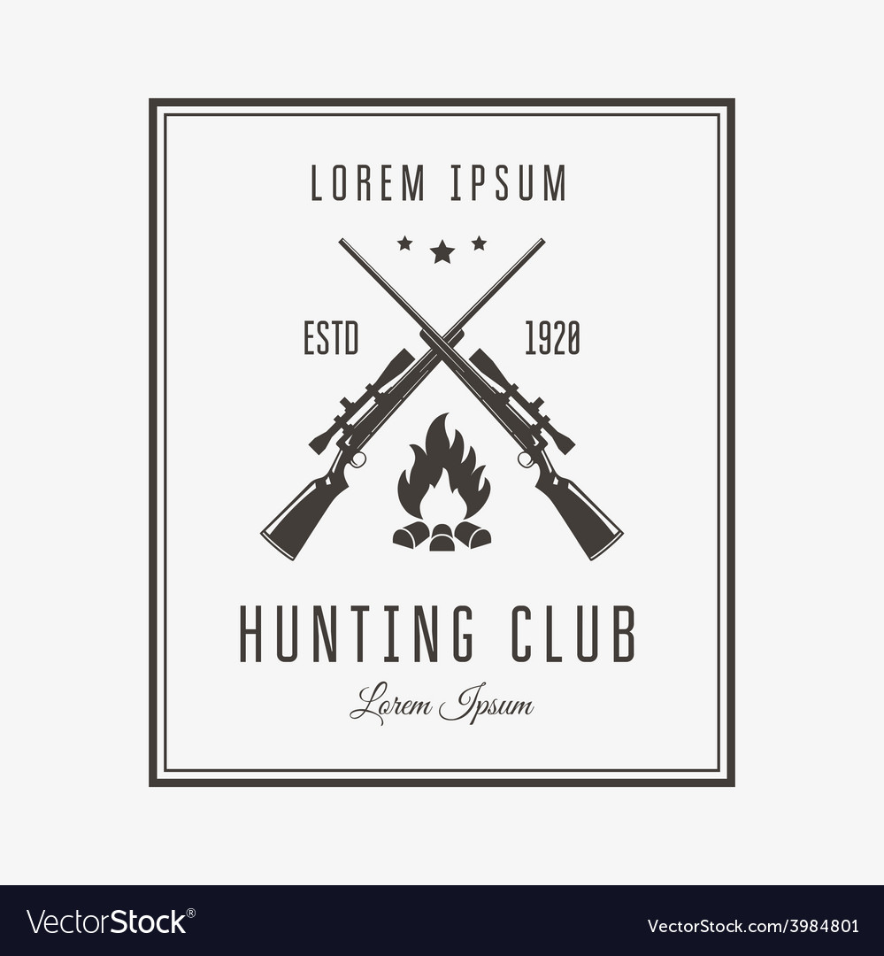 Hunting club vector | Price: 1 Credit (USD $1)
