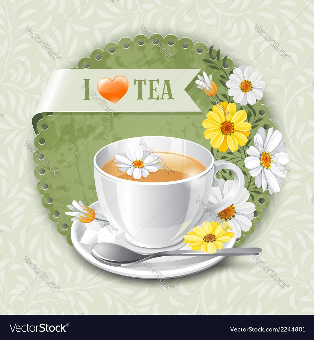 I love tea vector   Price: 1 Credit (USD $1)