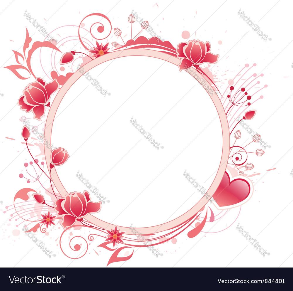 Rose round banner vector | Price: 1 Credit (USD $1)