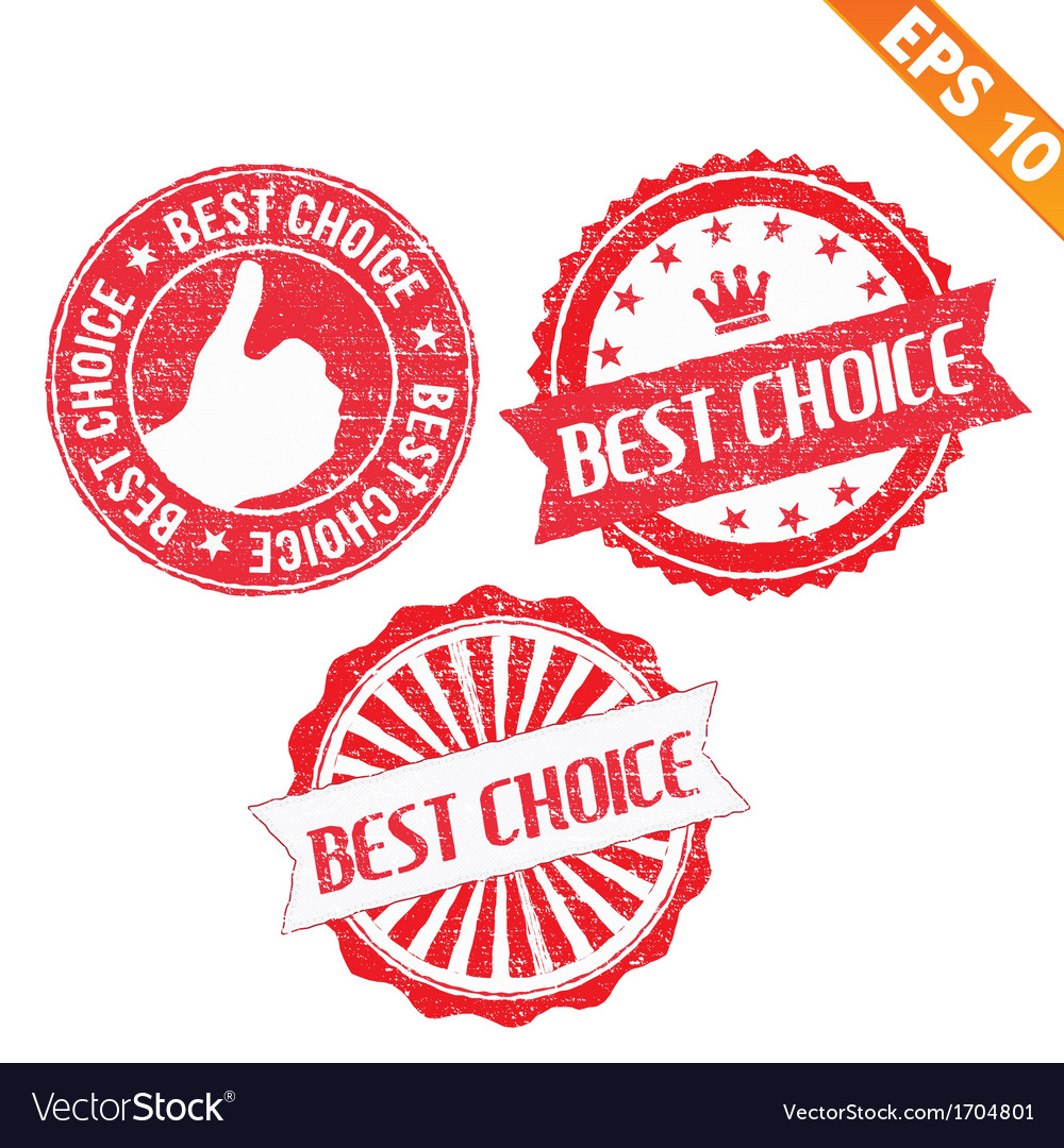 Stamp sticker best choice collection - - ep vector | Price: 1 Credit (USD $1)