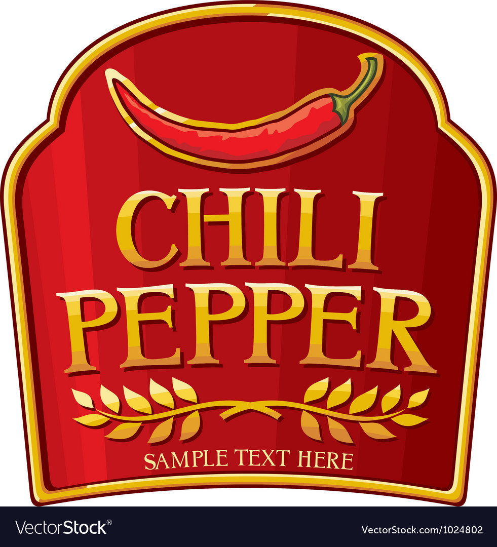 Chili pepper label vector | Price: 3 Credit (USD $3)