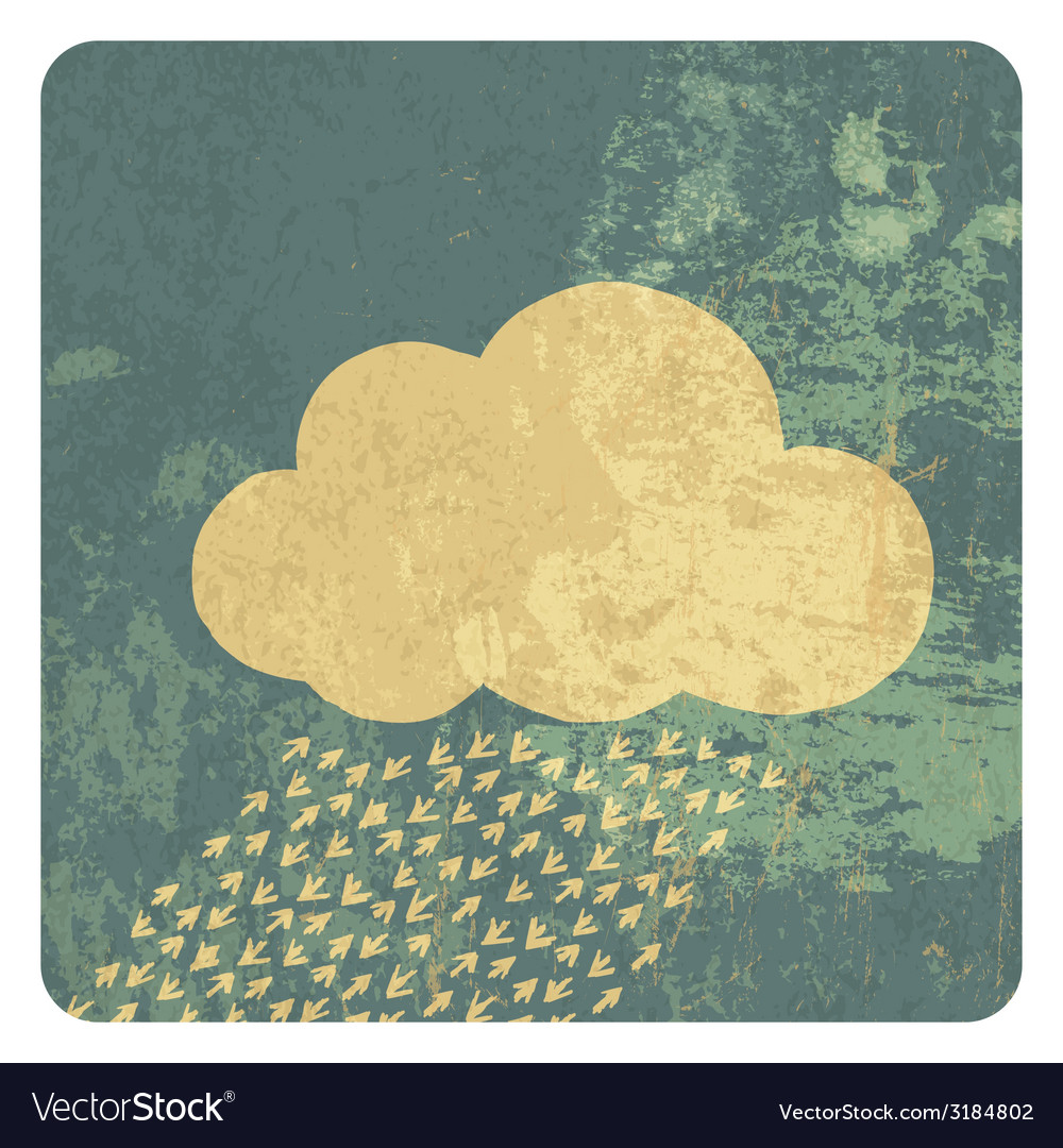 Cloud grunge icon vector | Price: 1 Credit (USD $1)