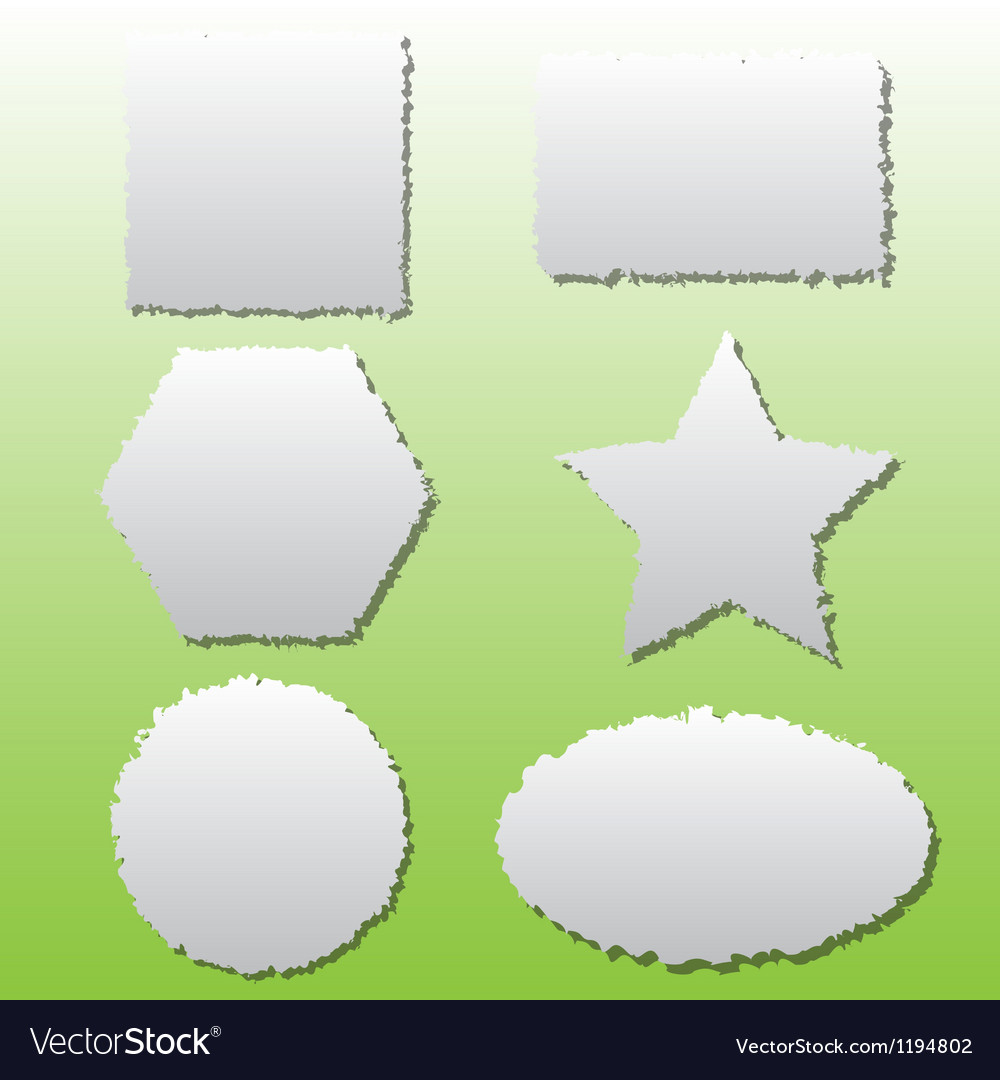 Collection of different shape paper tears vector | Price: 1 Credit (USD $1)