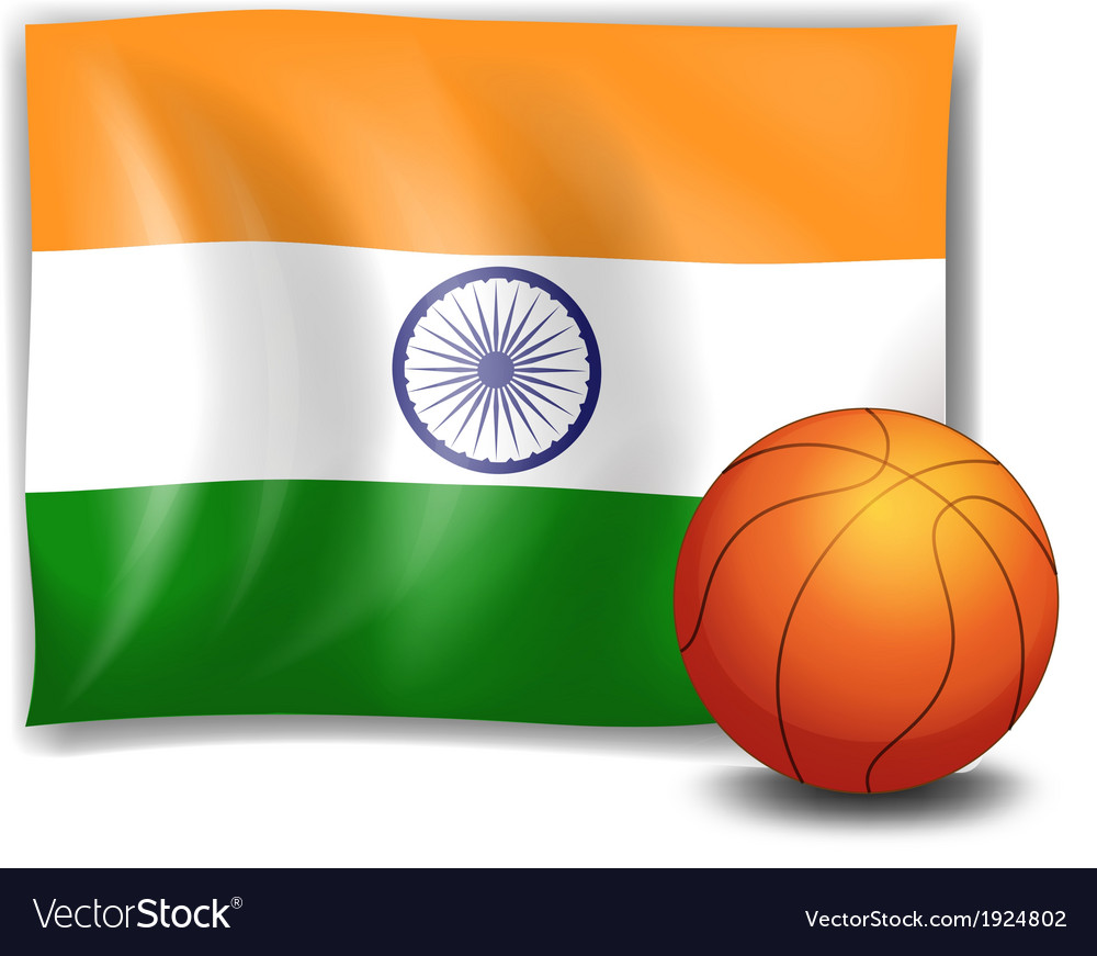 The flag of india with a ball vector | Price: 1 Credit (USD $1)