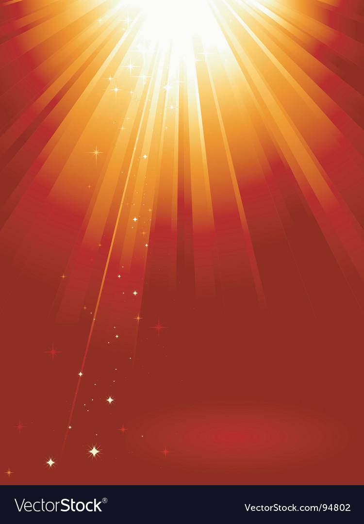 Golden light burst vector | Price: 1 Credit (USD $1)