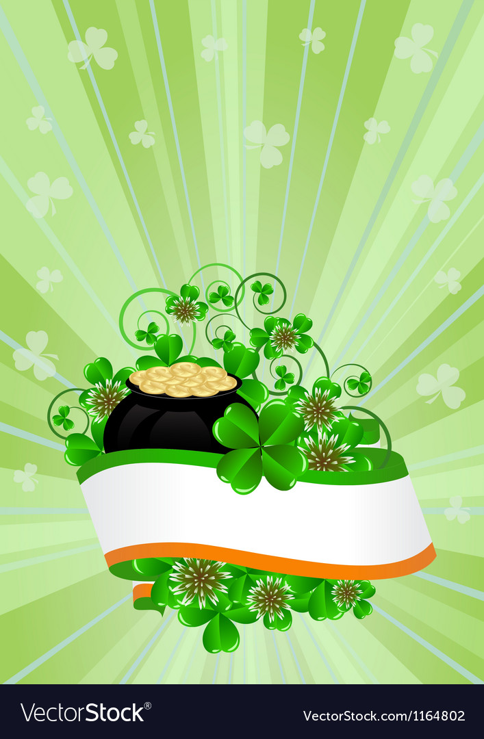 Greeting card st patricks day vector | Price: 1 Credit (USD $1)