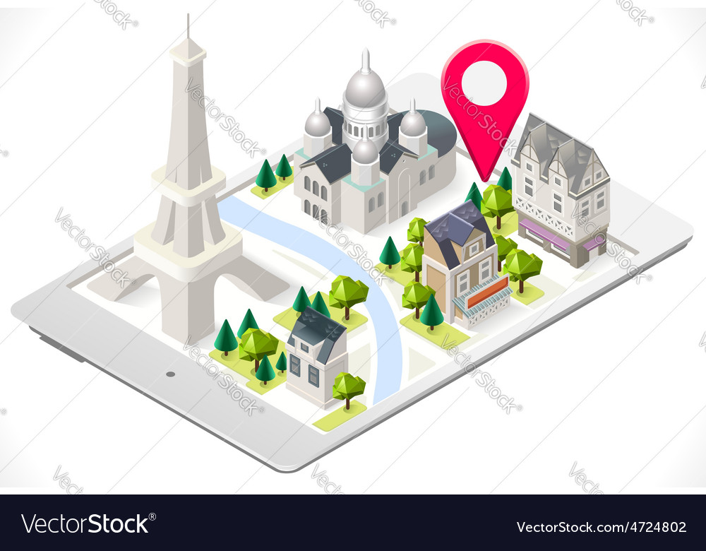 Paris on a tablet 02 vector | Price: 1 Credit (USD $1)