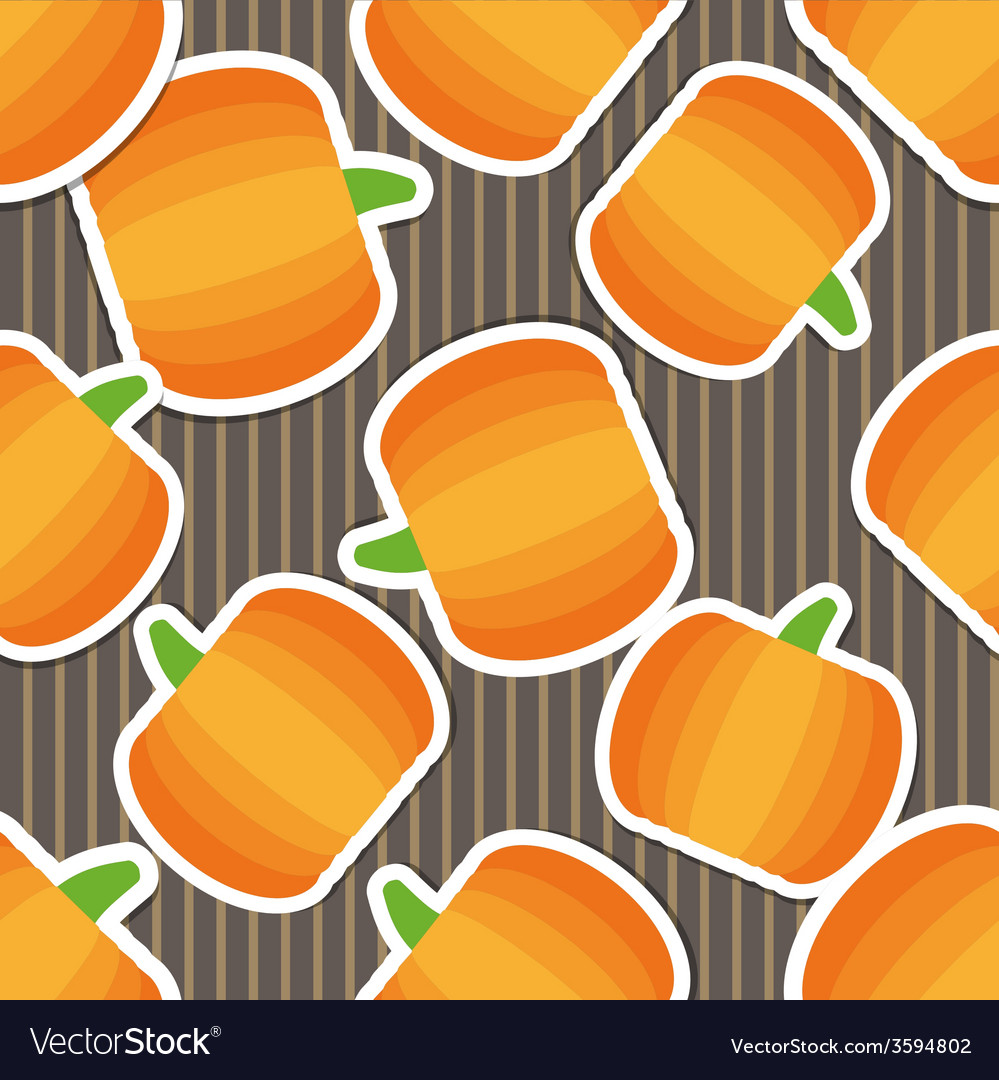 Pumpkin pattern seamless texture with ripe vector | Price: 1 Credit (USD $1)