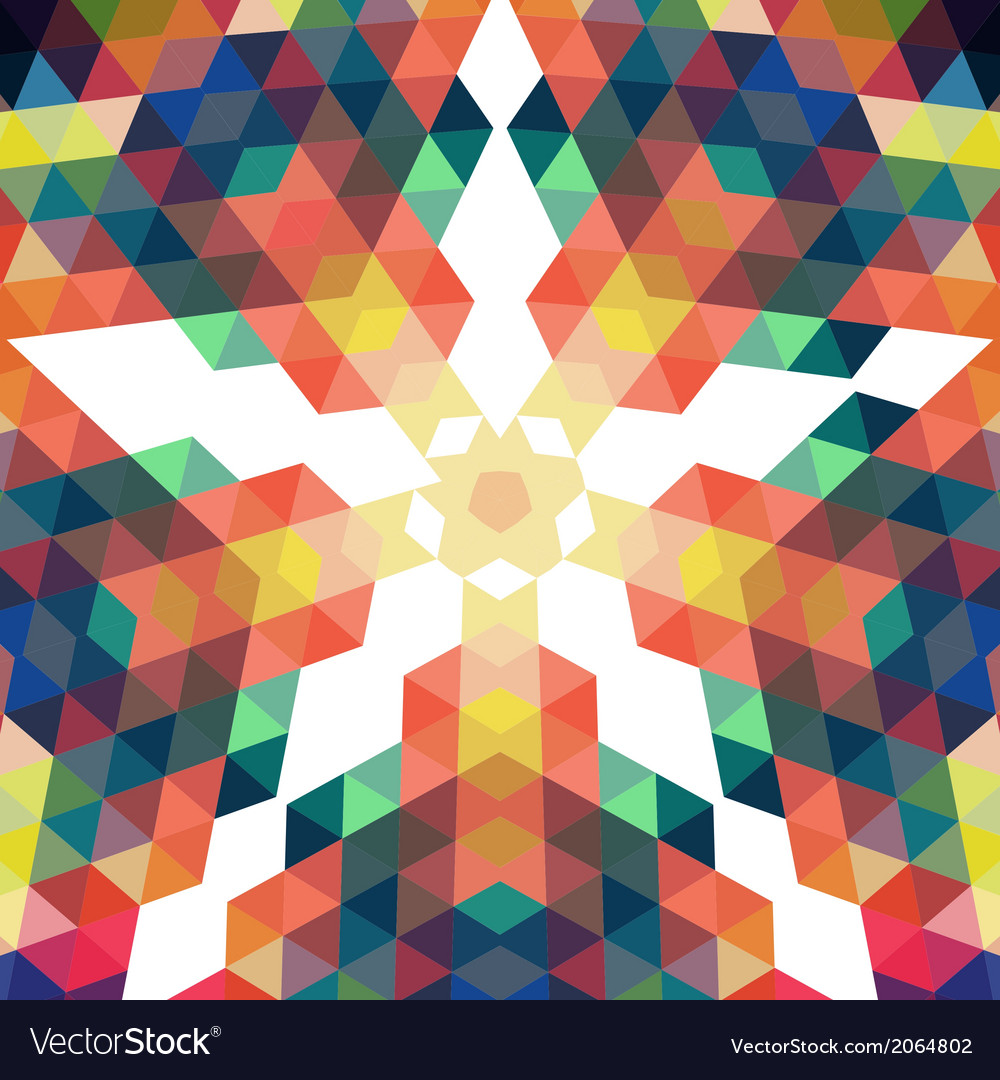 Retro star backdrop mosaic hipster background made vector   Price: 1 Credit (USD $1)