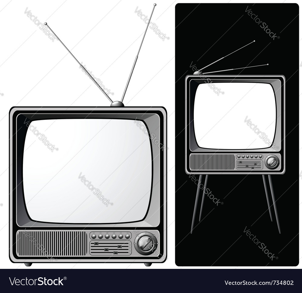 Two retro tvs vector | Price: 1 Credit (USD $1)