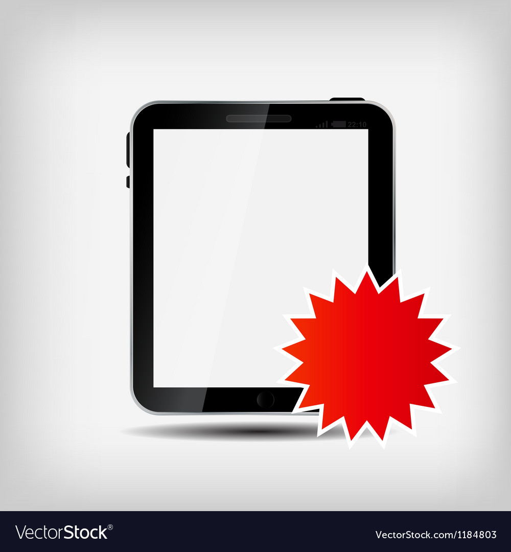 Abstract digital tablet vector | Price: 1 Credit (USD $1)