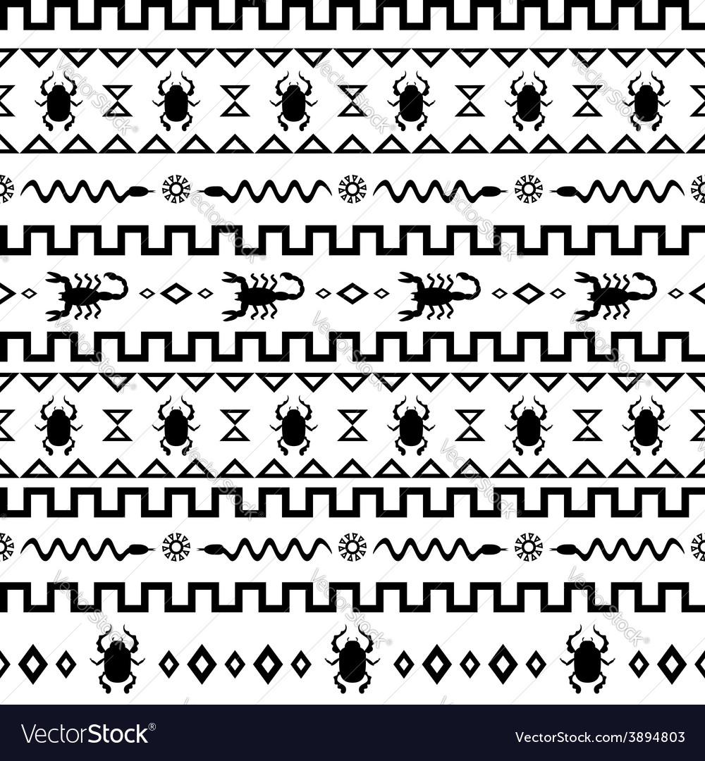 African tribal pattern ethnic ornament vector | Price: 1 Credit (USD $1)