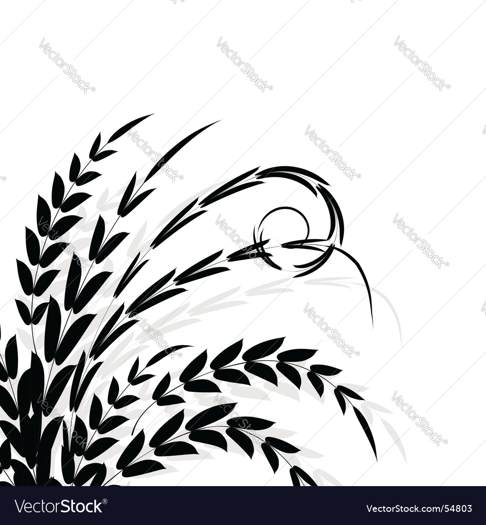 Branch silhouette vector | Price: 1 Credit (USD $1)
