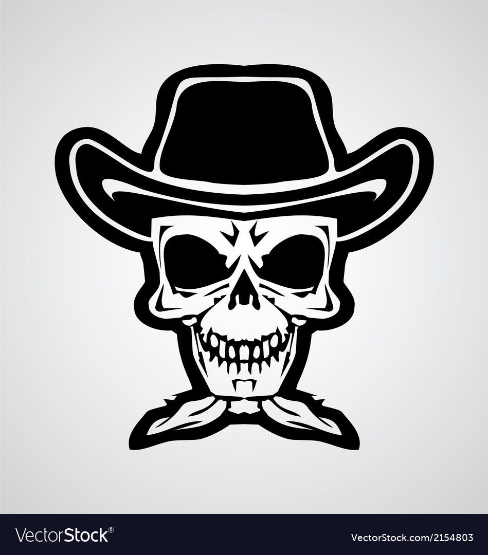 Cowboy skulls vector | Price: 1 Credit (USD $1)