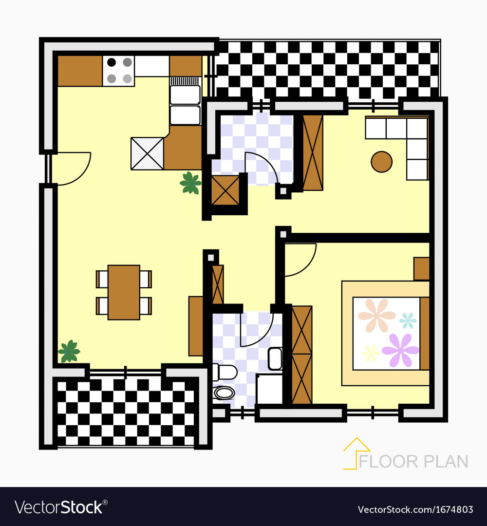 Floor plan vector | Price: 1 Credit (USD $1)
