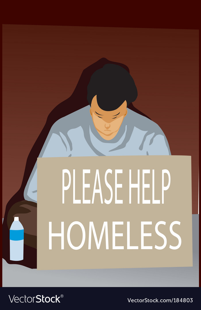 Homeless vector | Price: 1 Credit (USD $1)