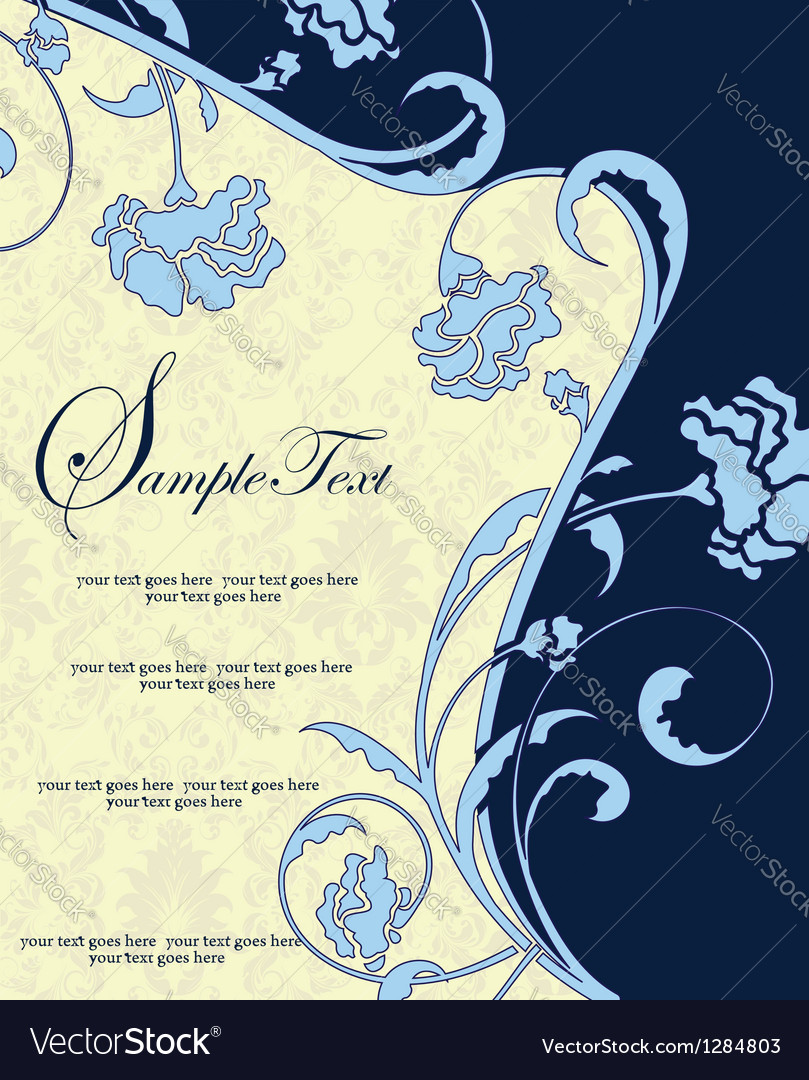 Invitation or announcement vector | Price: 1 Credit (USD $1)
