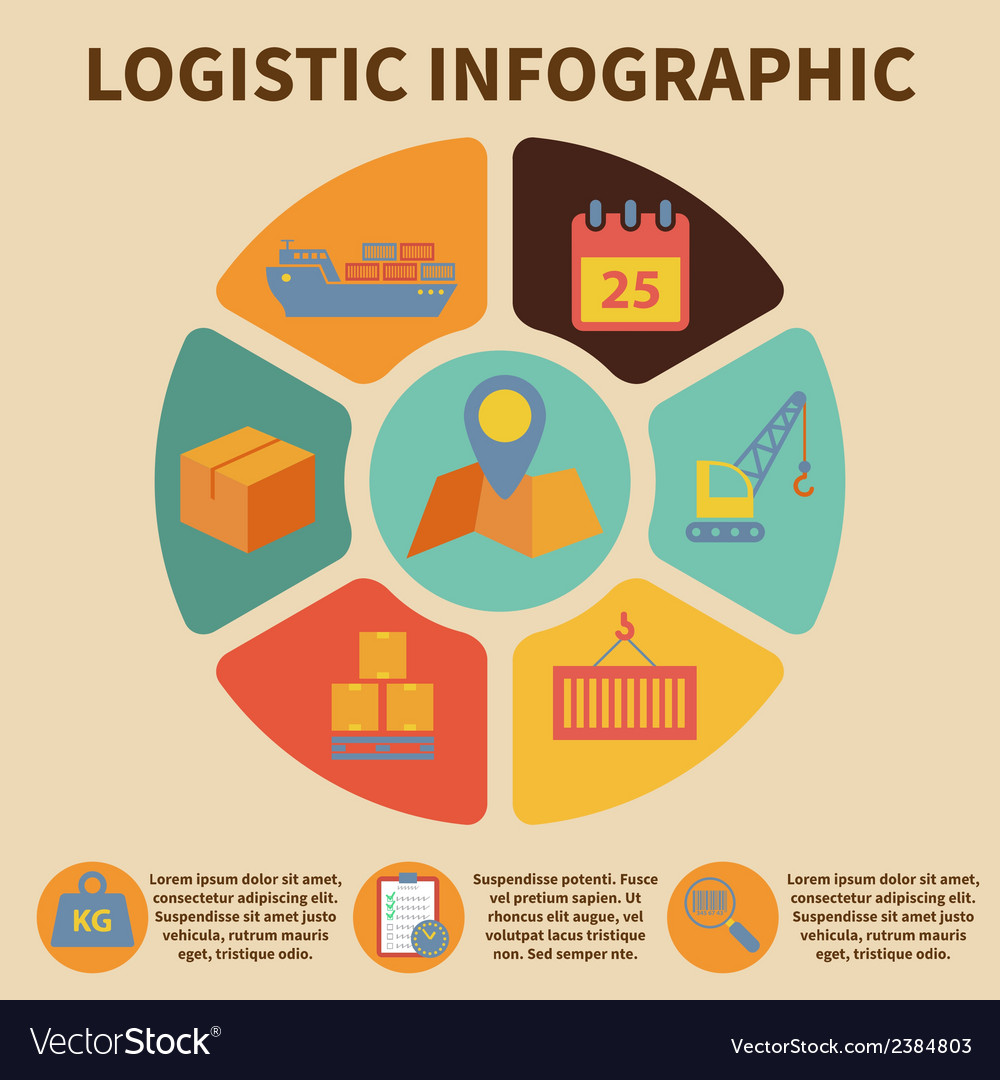 Logistic infographic icons vector | Price: 1 Credit (USD $1)
