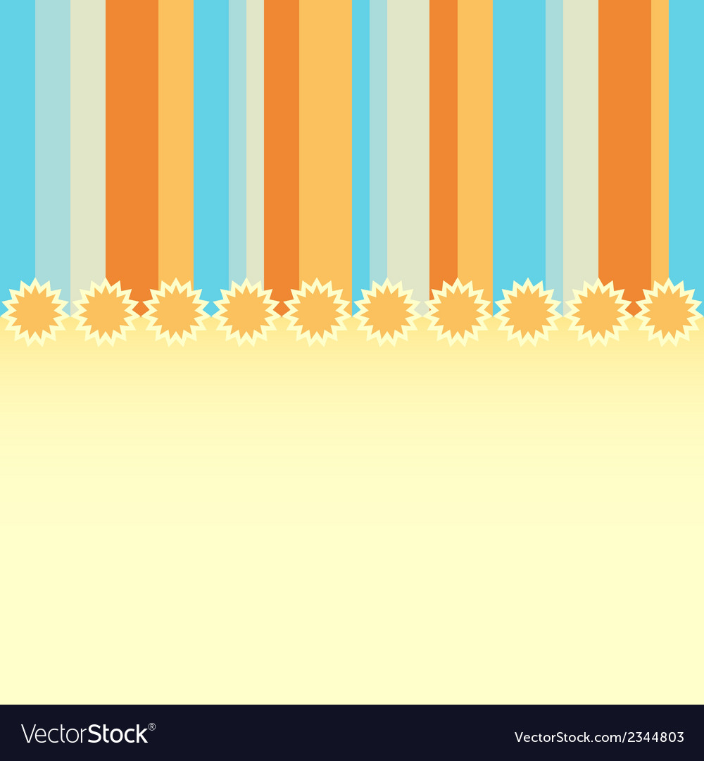 Summer greeting card vector | Price: 1 Credit (USD $1)