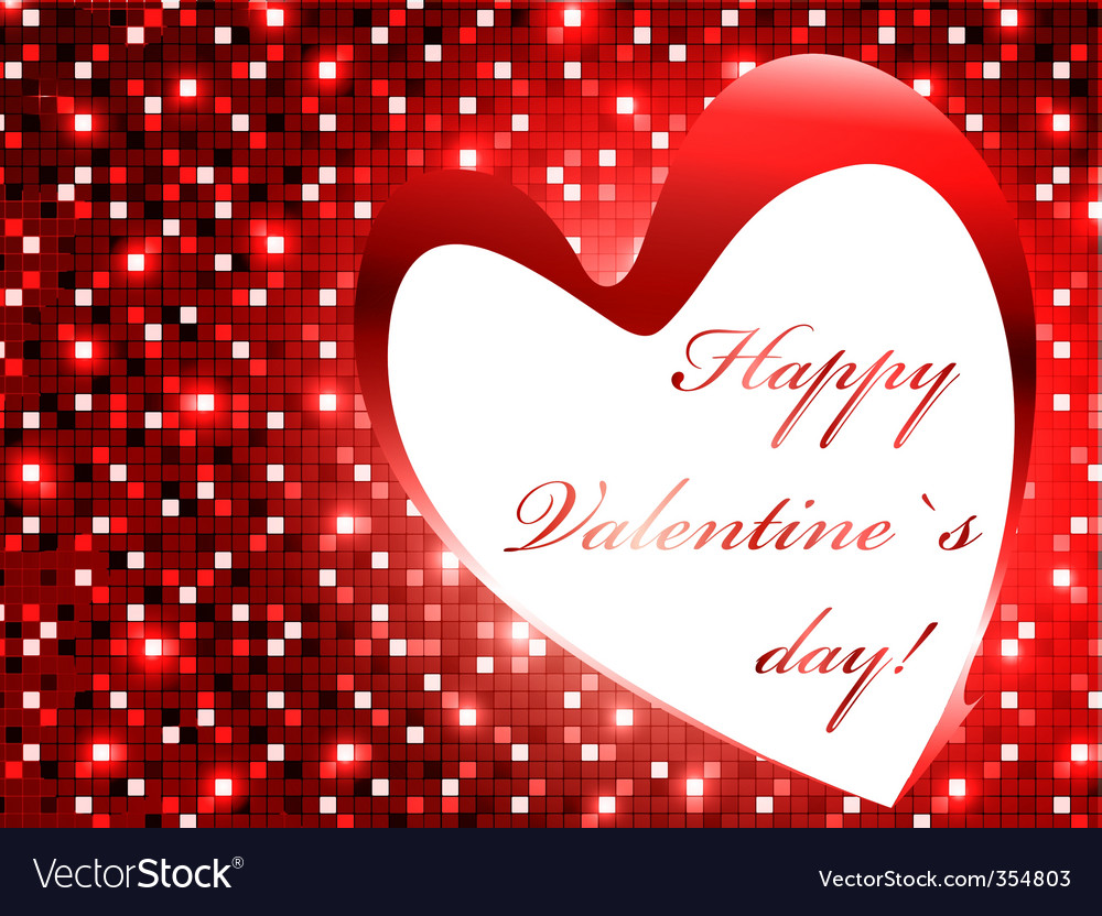 Valentine day frame vector | Price: 1 Credit (USD $1)