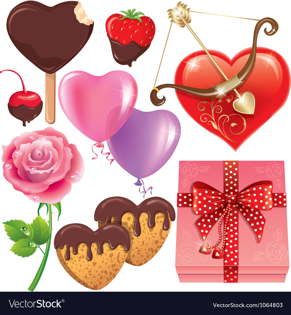 Valentines day set vector | Price: 3 Credit (USD $3)