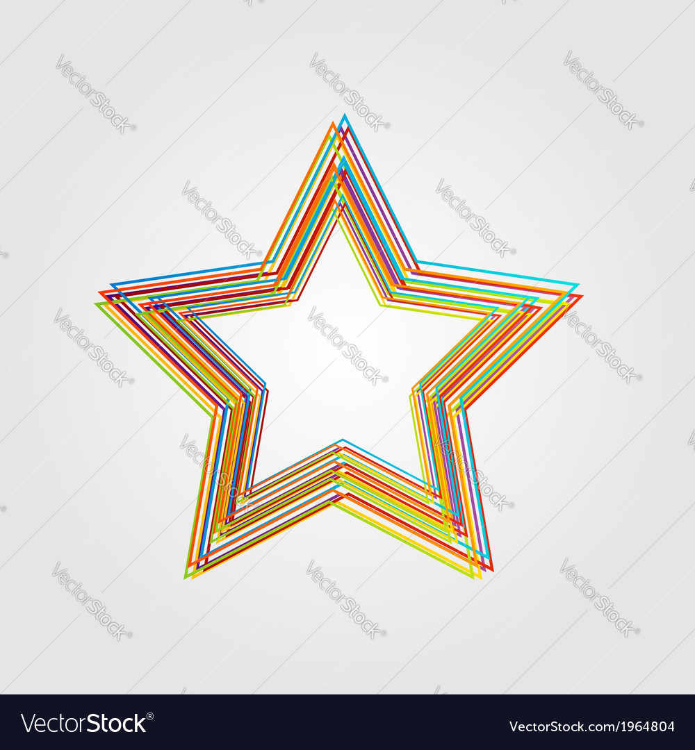 Abstract star design vector | Price: 1 Credit (USD $1)